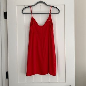 Urban Outfitters Dresses - Urban Outfitters Tie Front Red Slip Dress
